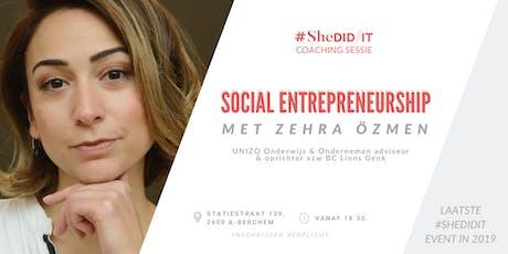 Social Entrepreneurship: een Unizo adviseur aan het woord (GRATIS) tickets