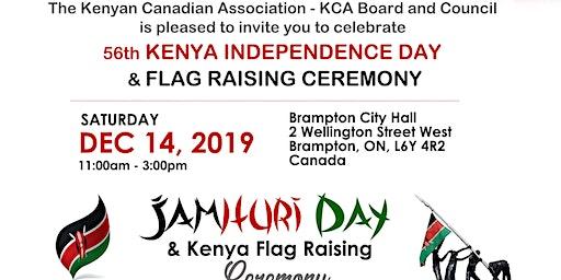 Kenya Flag Raising Ceremony & 56th Kenya Independence Day Celebration
