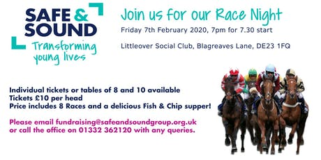 Safe and Sound Race Night tickets