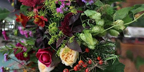 Autumnal Hand tied Bouquet in a pumpkin Workshop tickets