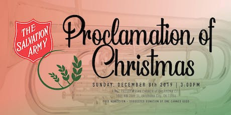 Proclamation of Christmas tickets