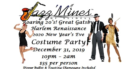 Roaring 20's...Great Gatsby, Harlem Renaissance New Years Eve Costume Party tickets