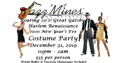 Roaring 20's...Great Gatsby, Harlem Renaissance New Years Eve Costume Party