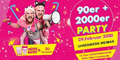 Zurück in die 90er & 2000er (Mütze Katze LIVE) Tickets