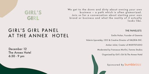 Girl's Girl X Annex Hotel: How to build your brand from scratch