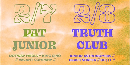 DBB Night 2: Truth Club, Junior Astronomers, Black Surfer, De()t