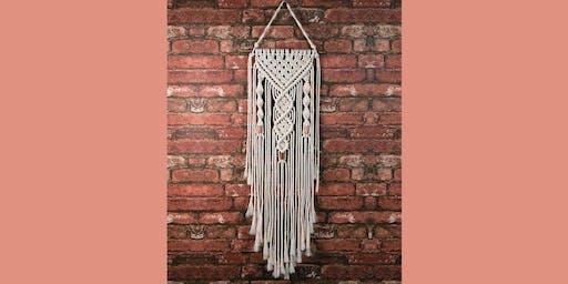 Macrame Wall Hanging: Sip and Craft at Watergrasshill B&B!!!!