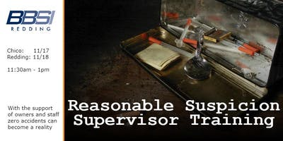 Reasonable Suspicion Supervisor Training - Redding