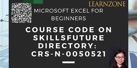 MICROSOFT EXCEL FOR BEGINNERS  (CRS-N-0050521) - Skillsfuture Credit Eligible tickets