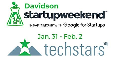 Techstars Startup Weekend Davidson 01/31 tickets