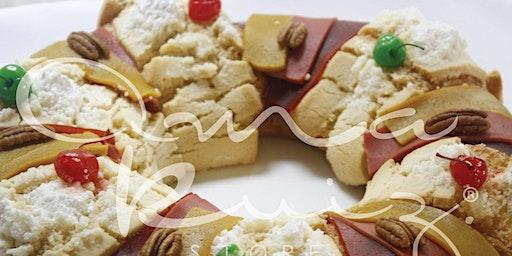 Rosca de Reyes con el chef Marcos Valadez en Anna Ruíz Store