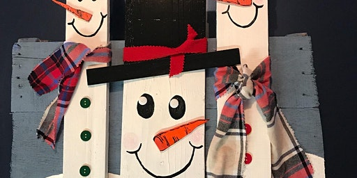 Snowman Upcycled Pallet Wood Project