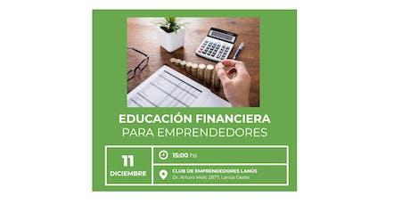 Taller de Finanzas para Emprendedores entradas