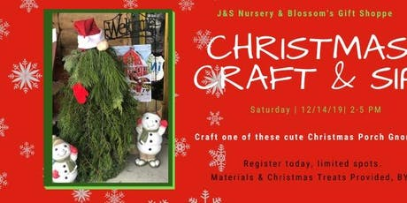 Christmas Craft & Sip Workshop-Porch Gnome tickets