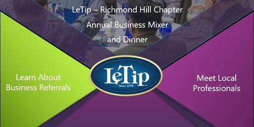 LeTip of Richmond Hill Annual Business Mixer and Dinner