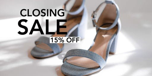 Shoe Sale! FILL A BAG EVENT - 15% OFF!