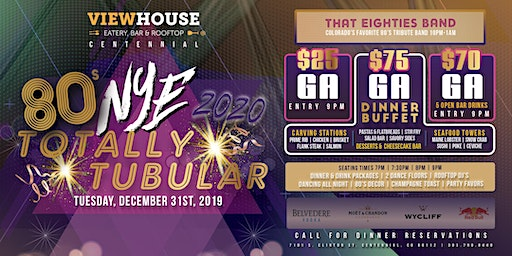 ViewHouse Centennial Presents: Totally Tubular 2020 New Year's Eve Party!