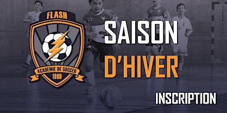 Inscription (Académie de soccer)(U5-U6)(Vendredi 18h00) - Saison d'Hiver 2019-2020 (2015-2014) (20 séances) billets