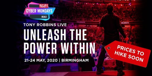 Tony Robbins Unleash the Power Within - Birmingham 2020 | Cyber Monday Deal