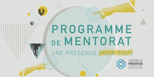 Midi-causerie : nouveau programme de mentorat du CPRMV