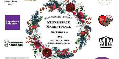 STITCHSPACE MARKETPLACE Shop handmade for the Holidays tickets