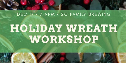 Brushes & Brews - Christmas Wreaths
