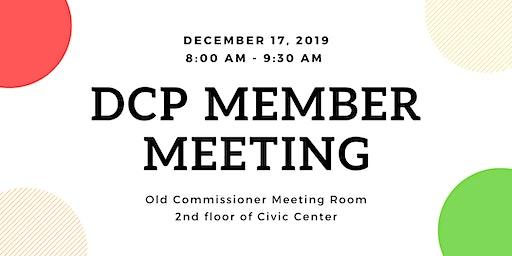 December DCP Member Meeting