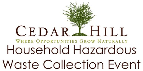 Cedar Hill HHW Collection Event June 13, 2020 tickets