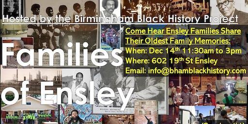 Families of Ensley AL, (Part 1)