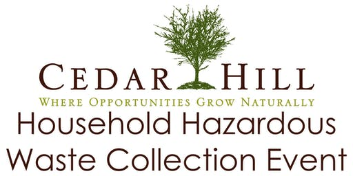 Cedar Hill HHW Collection Event September 12, 2020