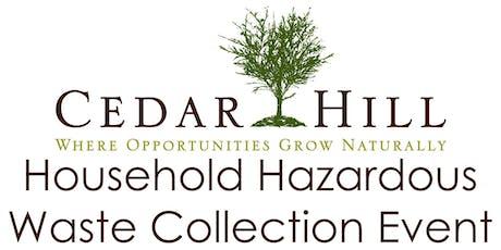 Cedar Hill HHW Collection Event December 12, 2020 tickets