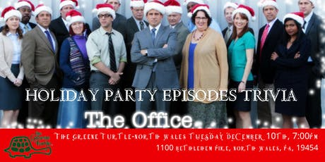 """The Office Trivia """"The Holiday Party Episodes"""" at Greene Turtle North Wales tickets"""