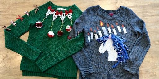 Festive & Funky Sweater Decorating ~ SIP N STITCH