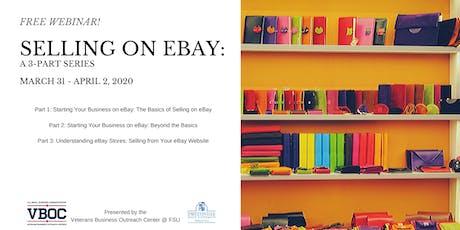 Selling on eBay - Webinar tickets
