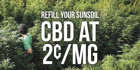 Sunsoil CBD 2 Cents/mg Refill Event tickets