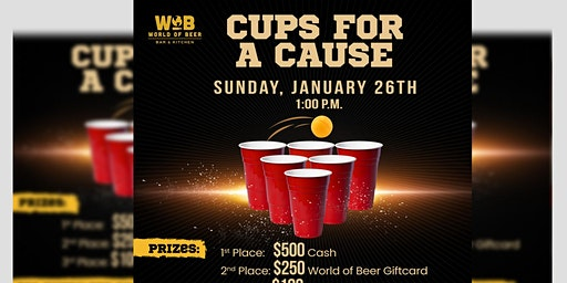Cups for a Cause - A Pong Tournament