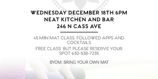 FREE Mat Class with apps & cocktails after!