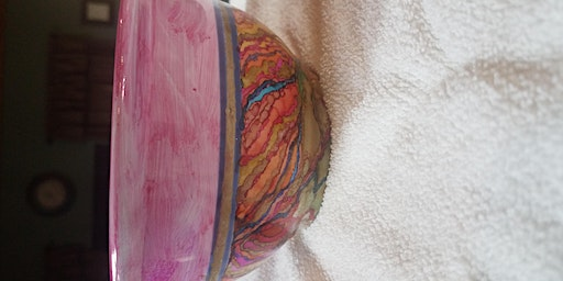 Alcohol Ink Prayer Bowl Workshop