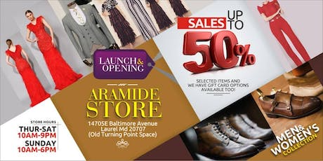ARAMIDE Store launch tickets