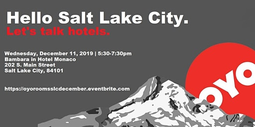 OYO Rooms, Hello Salt Lake City!