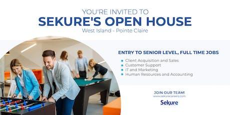 Sekure Open House | West Island tickets