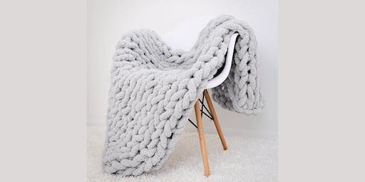 Arm Knitting Chunky Blanket 6: Sip and Craft at Magnanini Winery!!!