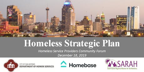 Homeless Strategic Plan Meeting with Homeless Service Providers tickets