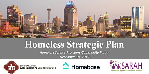 Homeless Strategic Plan Meeting with Homeless Service Providers