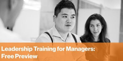 Leadership Training for Managers: Free Introductory Session