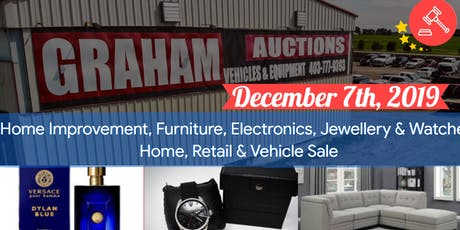 Home Improvement, Furniture, Electronics, Home, Retail & Vehicle Auction tickets