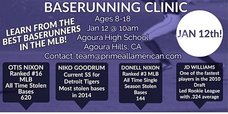 Major League Base Running Clinic tickets