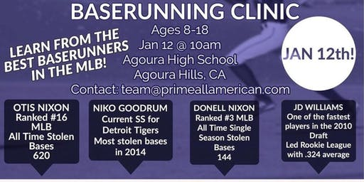 Major League Base Running Clinic