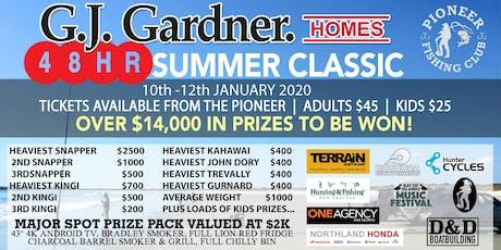 GJ Gardner Homes 48hrs Summer Classic Fishing Comp tickets