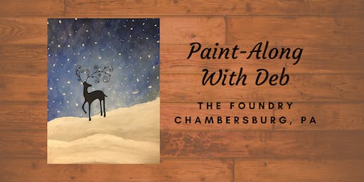 Treat Yourself Tuesday Paint-Along - Winter's Hush Reindeer
